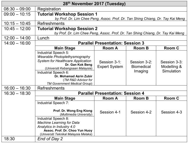 Programme Schedule Day 2