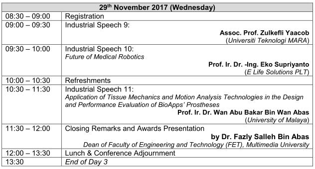 Programme Schedule Day 3